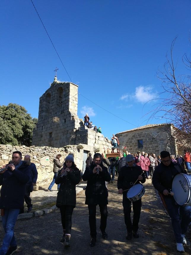 Valdemolinos vive la fiesta en honor a San Blas