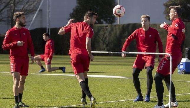 Los jugadores de Osasuna han preparado el partido contra el Nàstic CA Osasuna