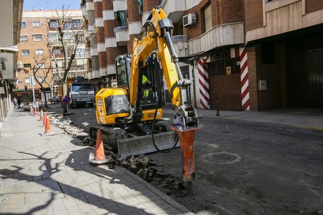 Arrancan las obras de la calle Olivo Rueda Villaverde