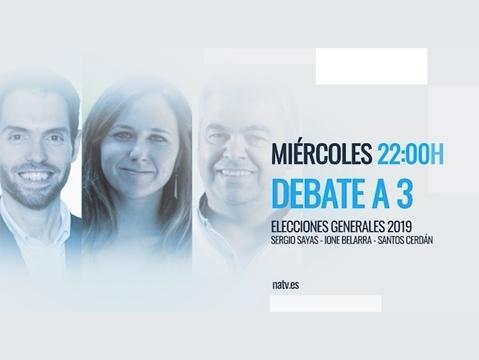 Navarra Televisión organiza el debate a tres para el 28-A