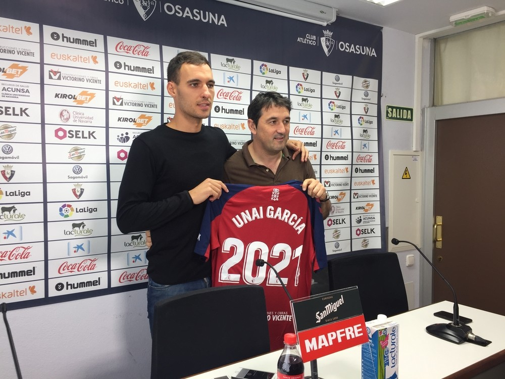 Unai García renueva con Osasuna hasta 2021...de momento