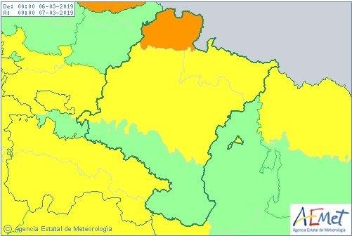 Llegan fuertes vientos a Navarra
