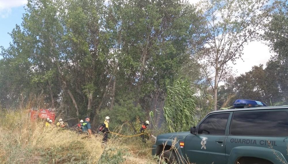 Controlado un incendio junto al Ebro, en la zona de Lodosa