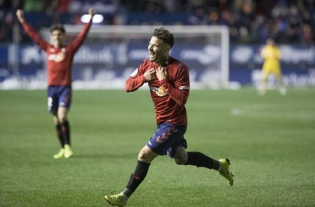 Rubén García festeja el tanto que le dio la victoria a su equipo @CAOsasuna