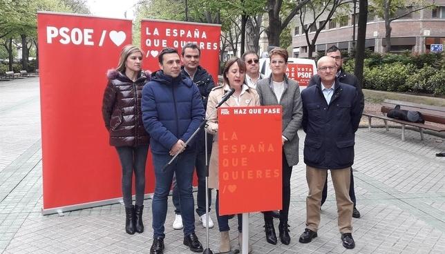 Acto de campaña del PSN-PSOE