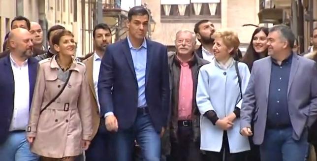 Pedro Sánchez visita Viana para pedir el voto navarro PSSOE