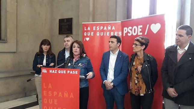 """Lastra llama en Pamplona a """"salir a defender la democracia"""" Europa Press"""