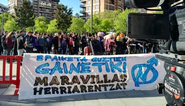 Una concentración respalda a los procesados por Rozalejo NATV-Vera Villafranca