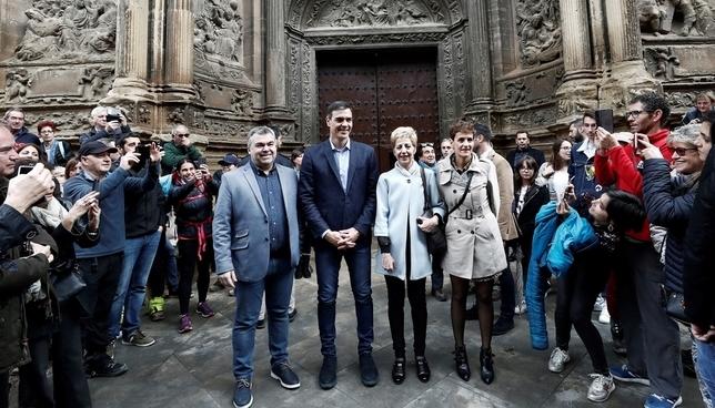 Pedro Sánchez visita Viana para pedir el voto navarro EFE-Jesús Diges