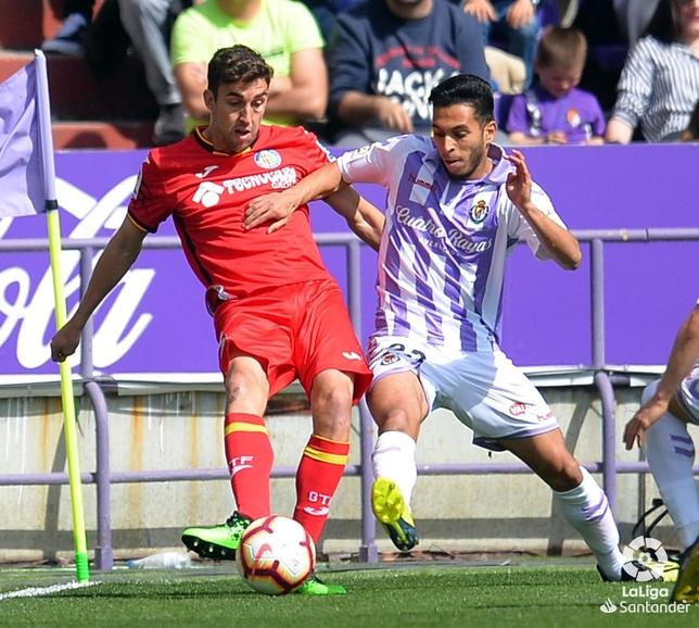 Mata y Anuar, en el Real Valladolid-Getafe.