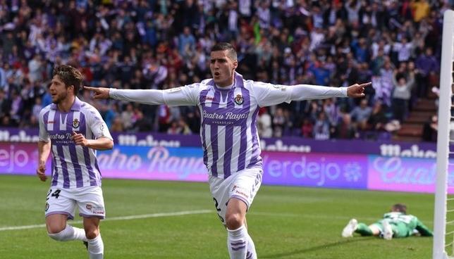 Guardiola celebra su gol ante el Getafe.