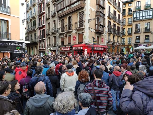 Marcha en Pamplona contra las ideas de la ultraderecha