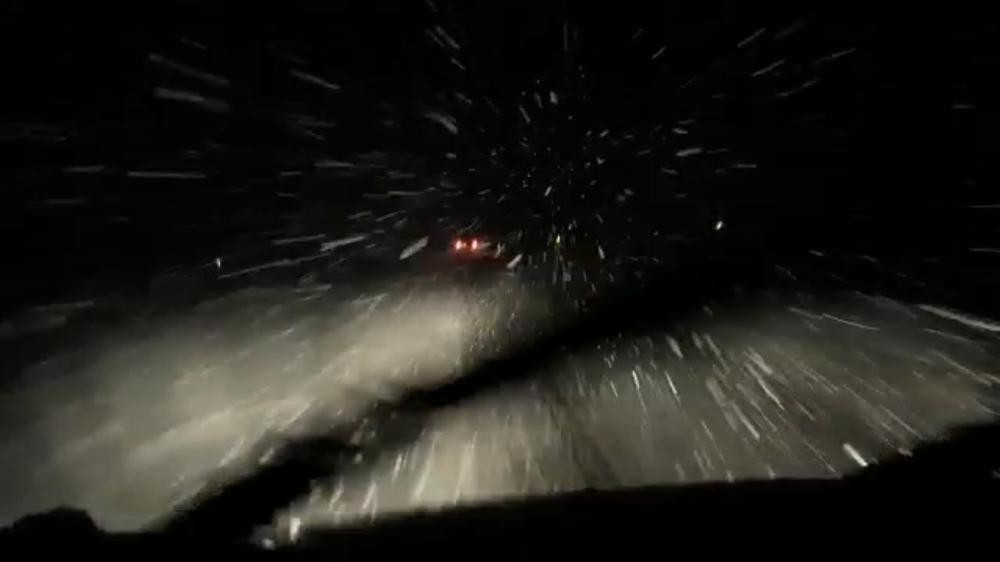 Nieve en la N-110.