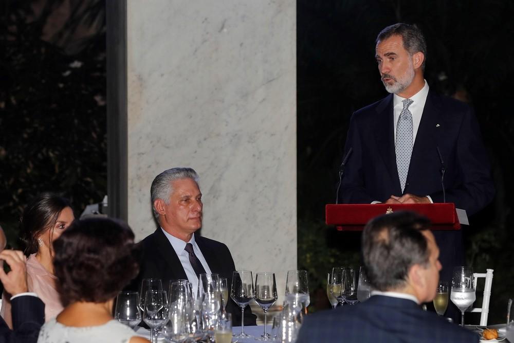 Felipe VI defiende en Cuba la democracia y los DDHH