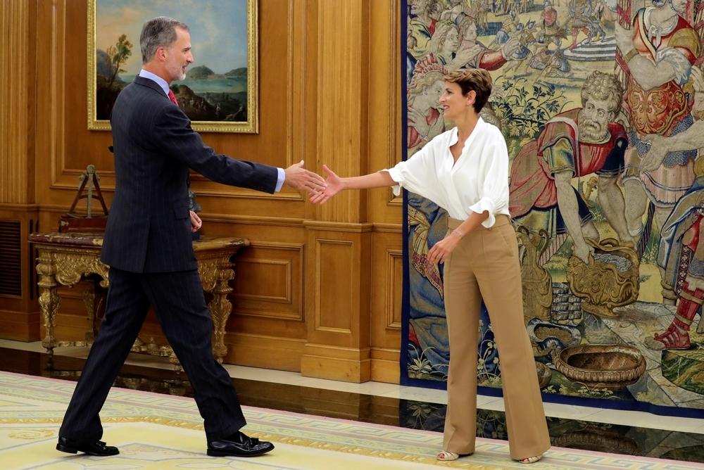 El rey recibe en Zarzuela a la presidenta María Chivite