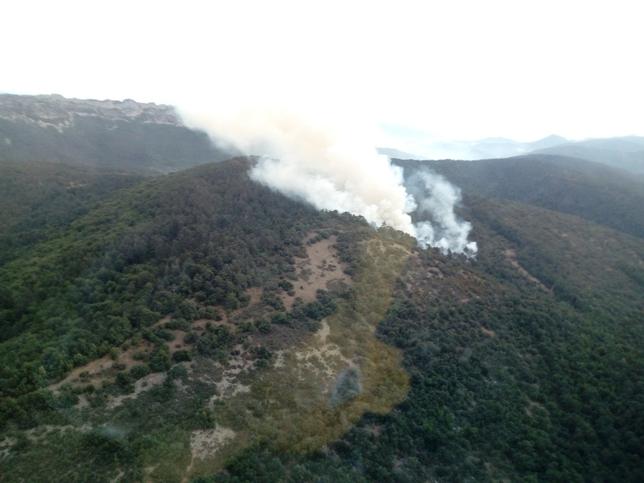 Controlan con ayuda de la lluvia un incendio en los Obarenes