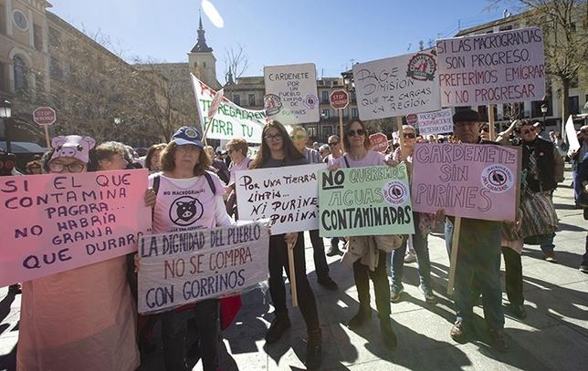 Los manifestantes recorrieron las calles del Casco Histórico de Toledo. Yolanda Redondo