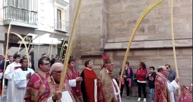 Bendición de palmas y ramos en la Catedral
