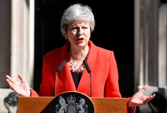 May anuncia su dimisión como primera ministra TOBY MELVILLE