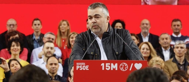 Acto político del PSOE en el Navarra Arena con Pedro Sánchez