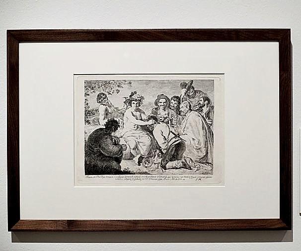 La pieza 'Baco fingido coronando a algunos borrachos' forma parte de la exposición.