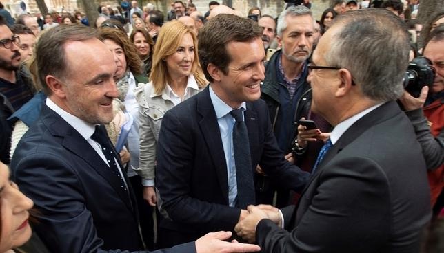 Casado trae su campaña a la Semana Santa navarra EFE-Iñaki Porto