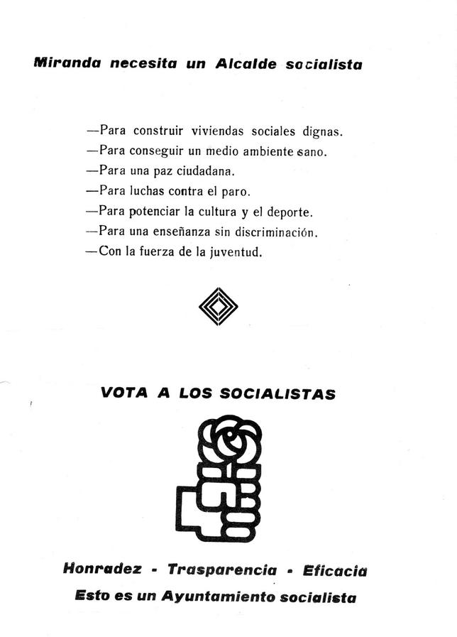 Programa de gobierno de la candidatura socialista de 1979.