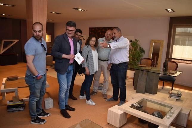 Iratxe García ha visitado varias empresas en Valverde del Majano EDS