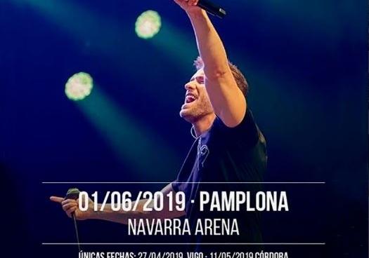 Pablo Alborán trae hoy su show musical al Navarra Arena Navarra Arena