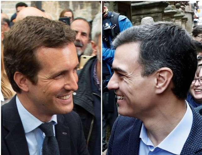Sánchez y Casado piden el voto de los navarros para el 28-A