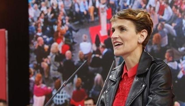 María Chivite, en un acto electoral