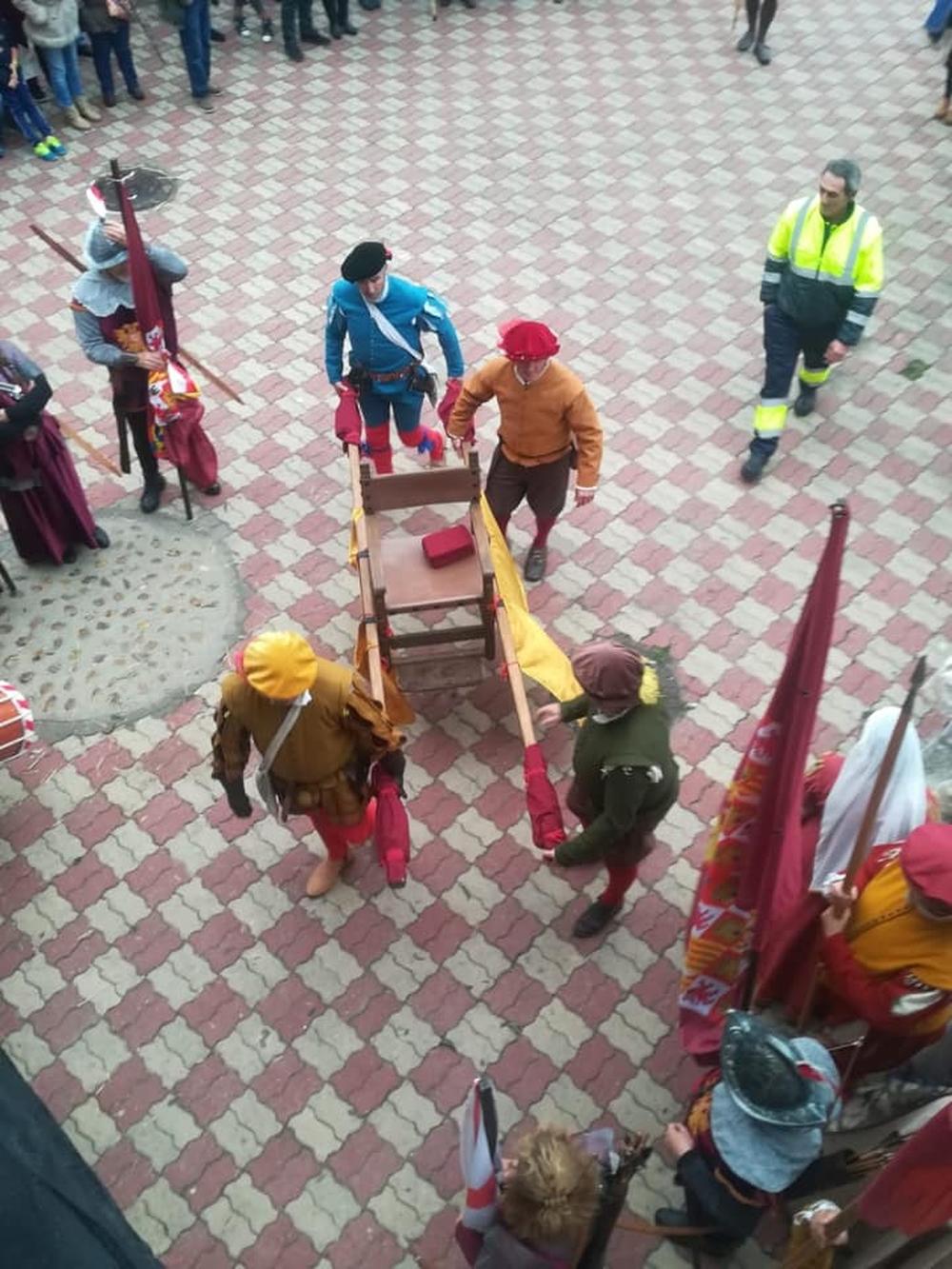Carlos V llega a Valdestillas