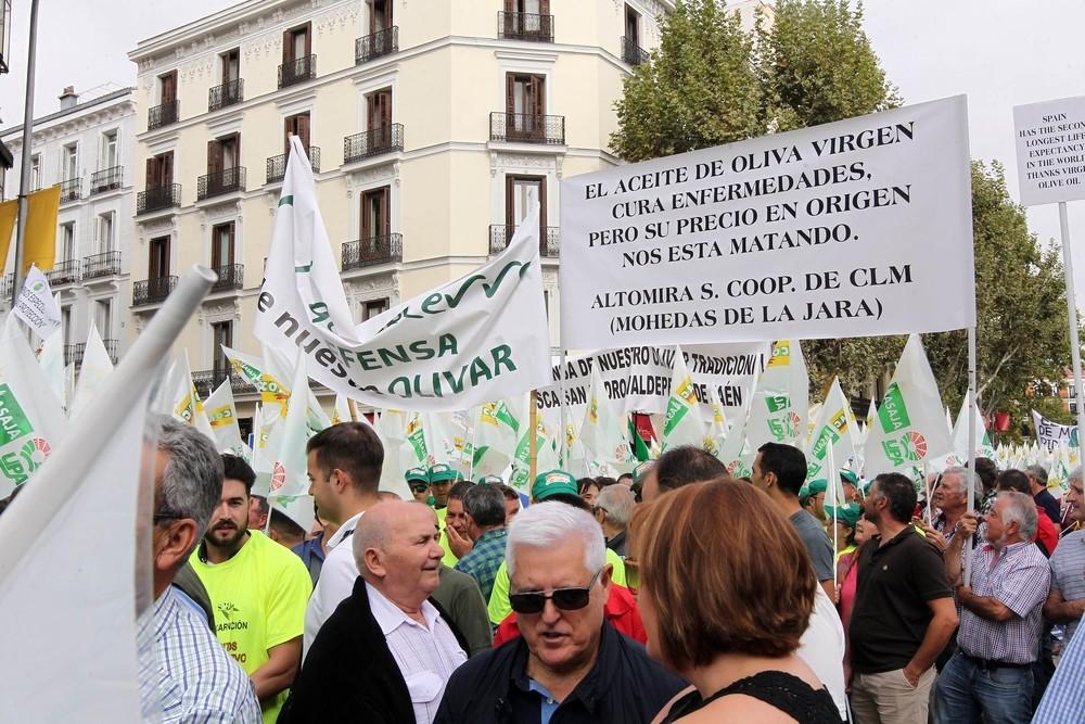 Los olivareros defienden en Madrid la autorregulación