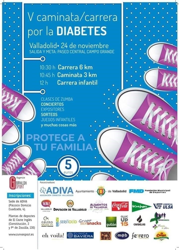 Valladolid acogerá el domingo la V carrera por la diabetes