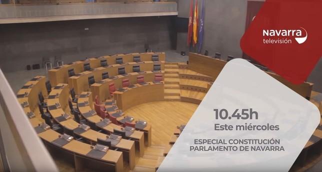 Navarra TV, en la constitución del nuevo Parlamento Foral NATV