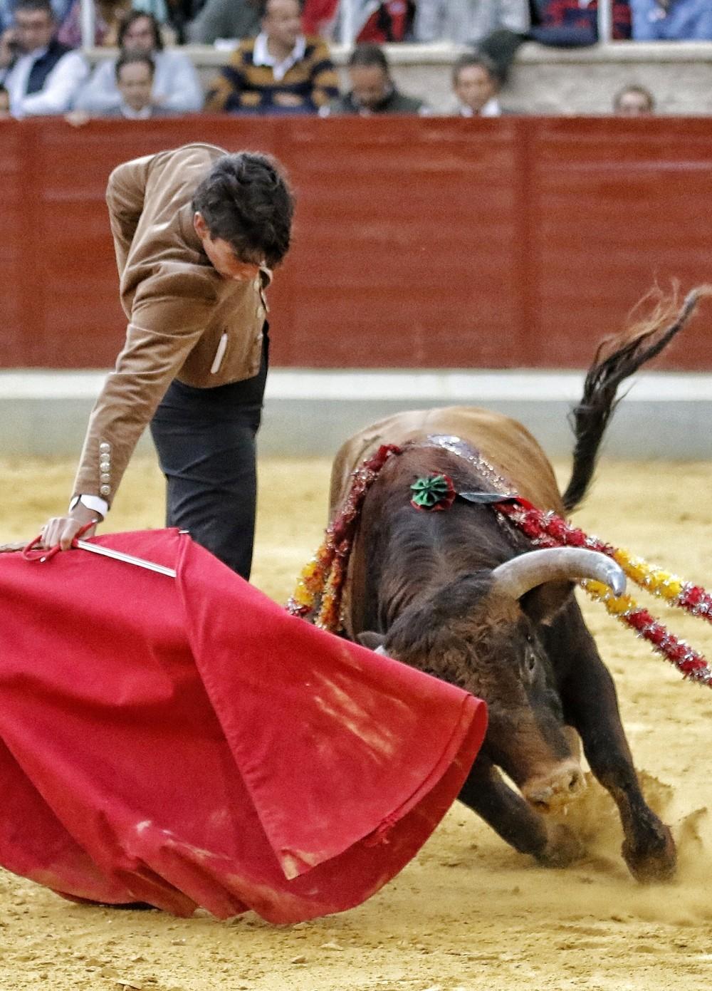 El novillero Marcos le cortó una oreja al Montealto que cerró el festejo