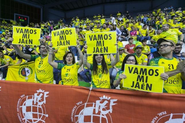 El Jaén agranda su idilio con el Quijote Arena Tomás Fernández de Moya