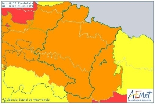 Riesgo importante por altas temperaturas en toda Navarra