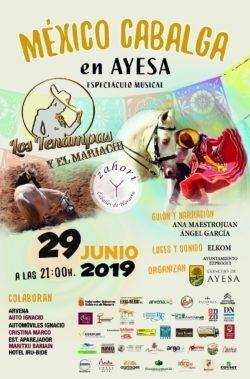 'México Cabalga': caballos y bailarinas bailan en Ayesa