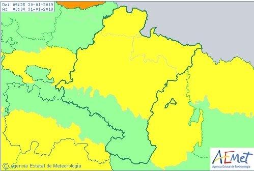 Media Navarra en alerta: hoy podría nevar a 500 metros