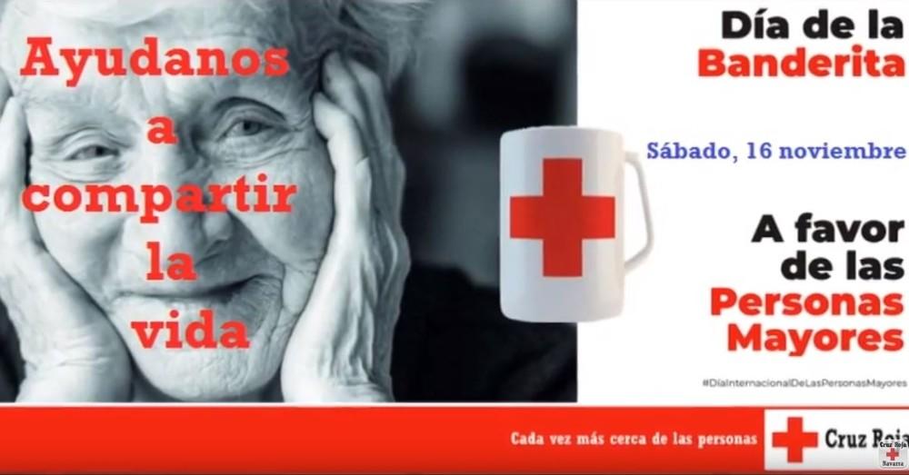 Cruz Roja celebra el Día de la Banderita por los mayores