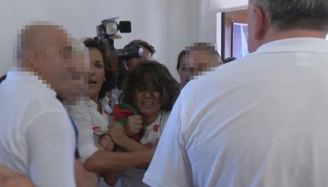 Carmen Alba denuncia a Abaurrea por patadas en el Chupinazo NATV