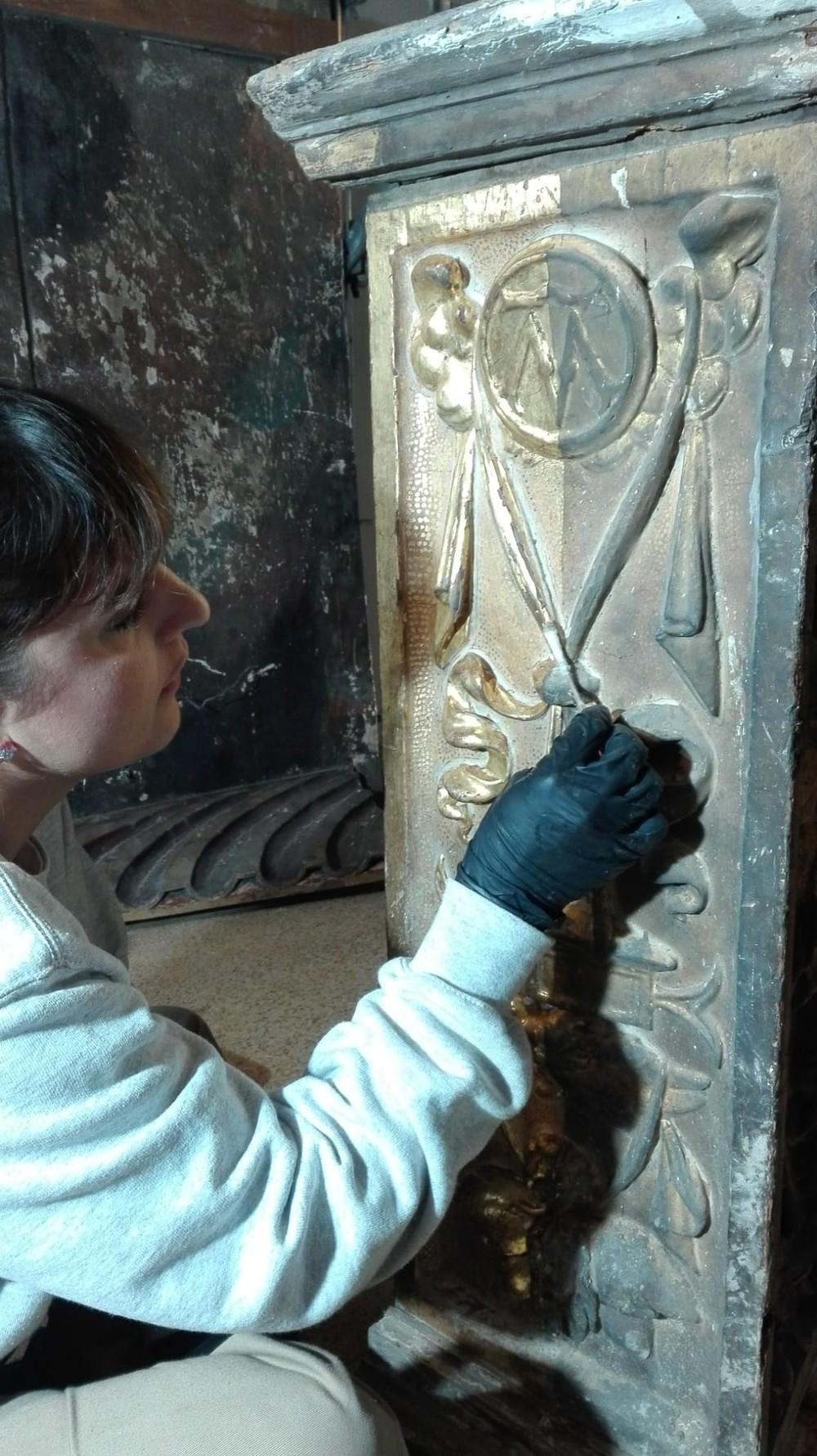 La Junta restaura el retablo de la Epifanía de Berruguete