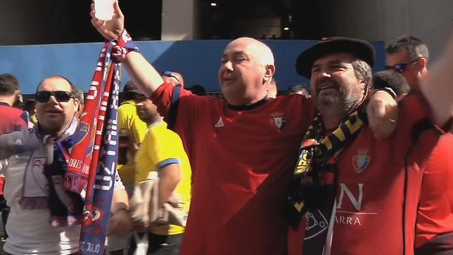 De Pamplona a Cádiz: los aficionados se vuelcan con Osasuna NATV