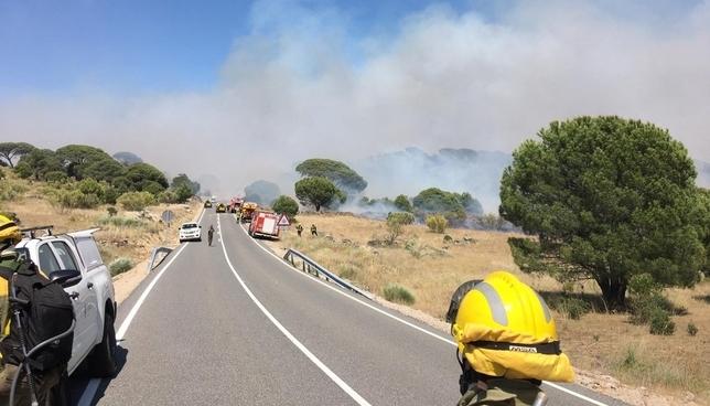 Incendio de nivel 1 en El Hoyo de Pinares