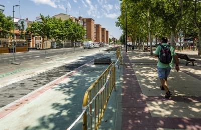 La avenida de Palencia completa su carril bici