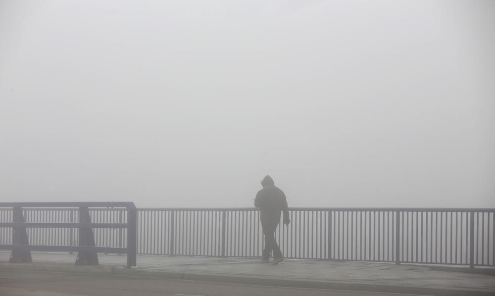 Niebla en Valladolid.