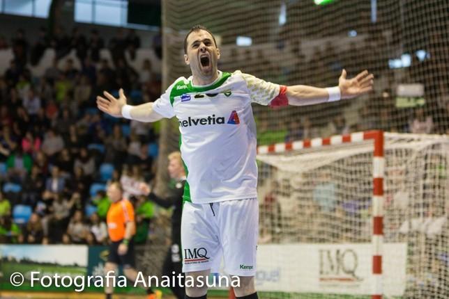 Último partido de Miguel Goñi como profesional en Helvetia Anaitasuna Anaitasuna