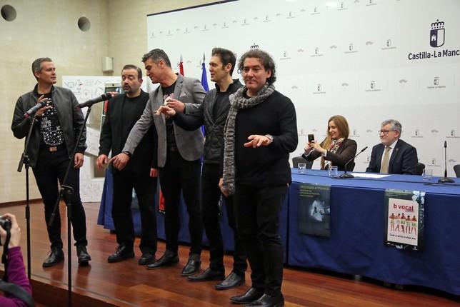 El grupo 'B Vocal' actuó durante la presentación de la Red de Artes Escénicas de Castilla-La Mancha. LT