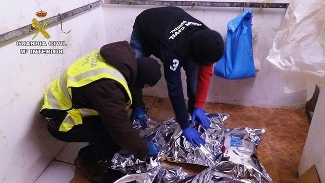 Nueve narcos detenidos con 40 kilos pactan sus condenas